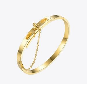 24K Gold Plated Bangle Chain Bracelet Minimalist